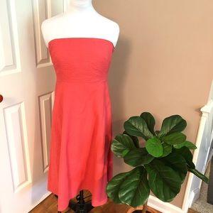 🔴5/$25 J. Crew l Lorelei Strapless Cotton Dress
